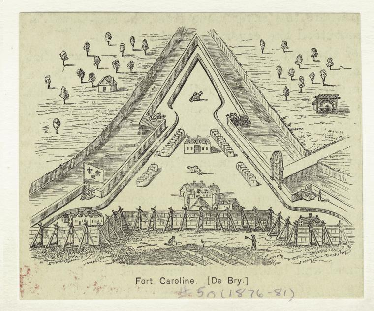 This is What Theodor de Bry and Fort Caroline. [De Bry.] Looked Like  in 1876
