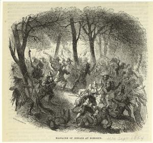 Massacre of Indians at Hoboken.