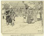 Arrival of the young women at Jamestown