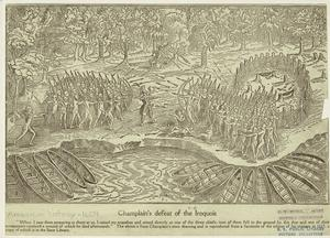 Champplain's defeat of the Iroquois.