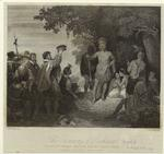 The crowning of Powhatan, 1608