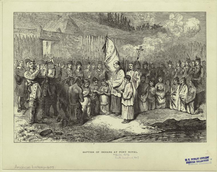 Baptism of Indians at Port Royal.