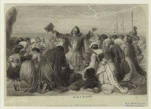 Embarkation of the Pilgrim Fathers.
