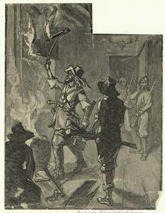 Burning of Lawrence's house at Jamestown.
