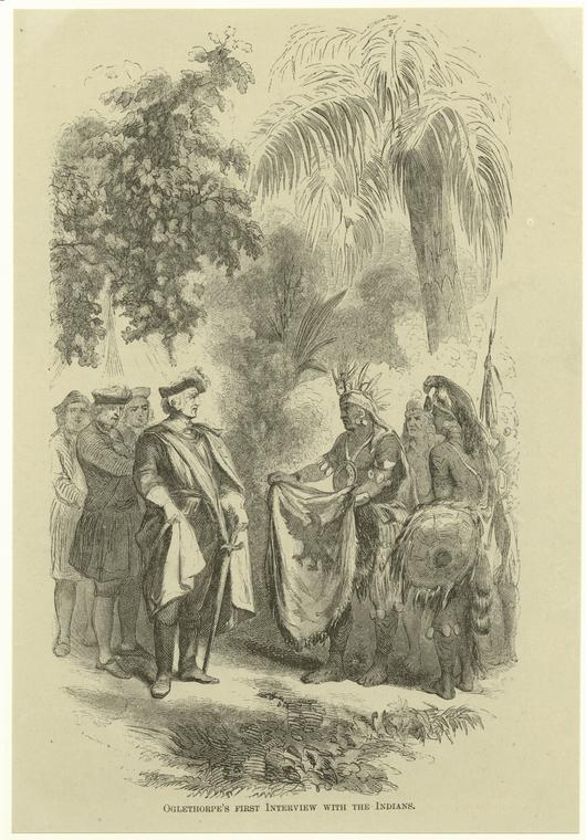 Oglethorpe's first interview with the Indians.