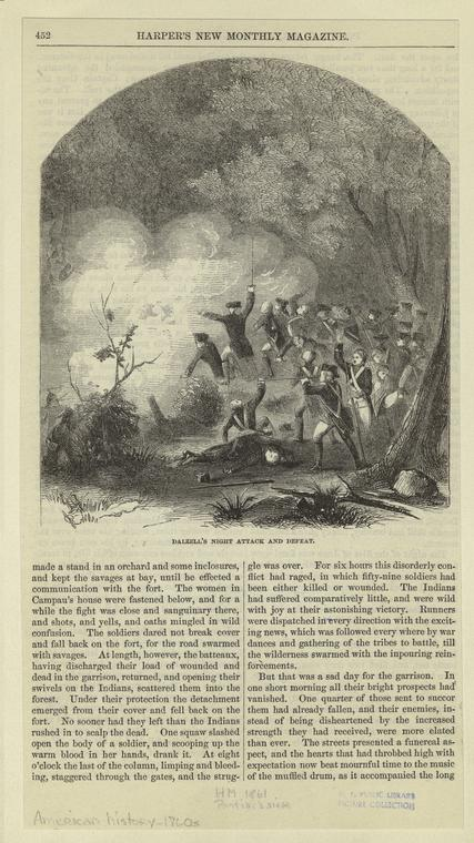 Dalzell's night attack and defeat.