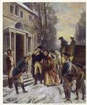 Martha Washington visits George at headquarters, Morristown