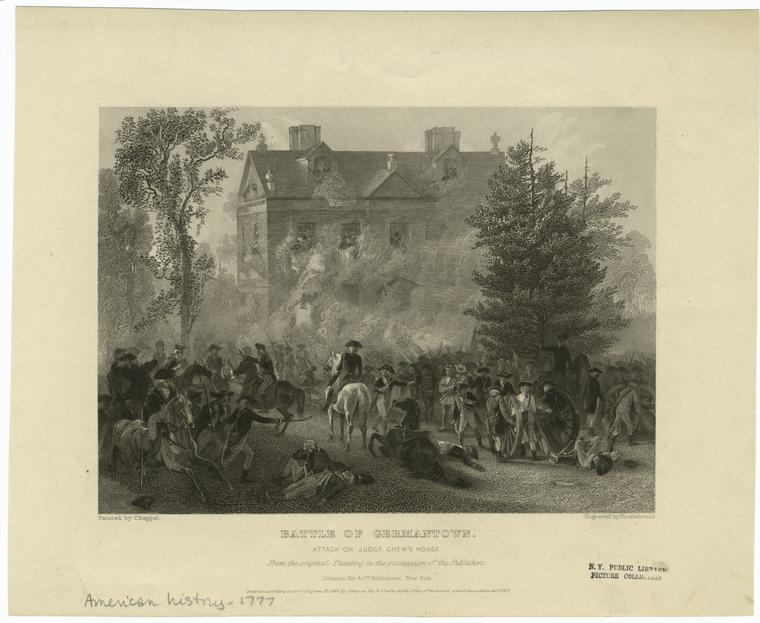 Battle of Germantown.  Attack on Judge Chew's house.
