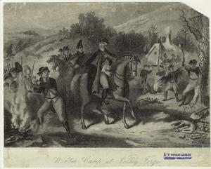Winter camp at Valley Forge.