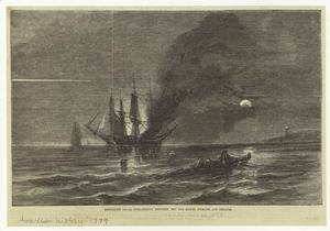 Desperate naval engagement between the Bon Homme Richard and Serapis.