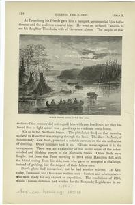 Burr's troops going down the Ohio.