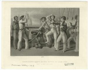 Commodore Perry at the Battle of Lake Erie.