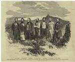 """""""Free state prisoners,"""" taken at their camp, near Lecompton, Kansas territory."""