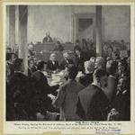 Horace Greeley signing the bail-bond of Jefferson Davis at the Richmond, Va., court house, May 13, 1867.