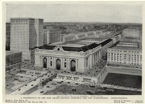 A perspective of the new Grand Central terminal and the surrounding improvements.