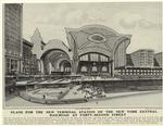 Plans for the new terminal station of the New York Central Railroad at Forty-second Street.