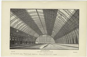 Arched-beam roof. -Grand Central Railroad Depot, New York.