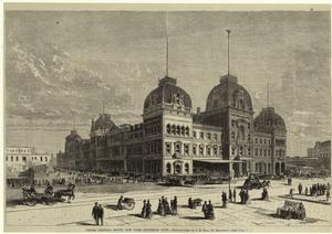 Grand Central Depôt, New York - exterior view.