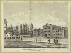 The old Bridewell, in the Park, N.Y. as it stood about 1834.