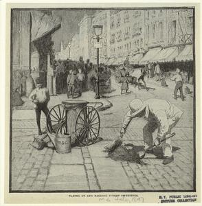 Taking up and bagging street s... Digital ID: 809486. New York Public Library