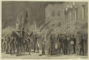 Reception of the German singing societies at the City Hall Park, July 15, 1865.