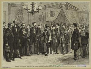 New York City -- popular reception to the visiting governors, in the Governor's room in the City Hall, September 5th.