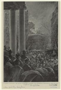 In honor of Kossuth, the mayor of New York reviewing the procession of Hungarians from the steps of the City Hall.