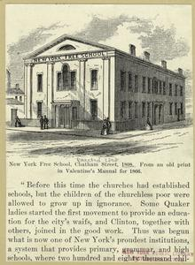 New York Free School, Chatham Street, 1808.