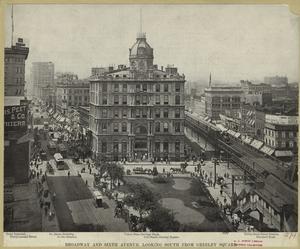 Broadway and Sixth Avenue, loo... Digital ID: 809713. New York Public Library