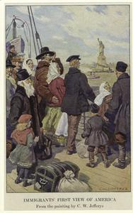 Immigrants' first view of America.