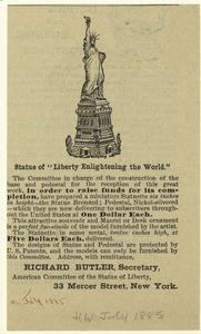 "Statue of ""Liberty Enlightening the World."""