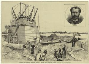 Pedestal for Bartholdi's Statue of Liberty on Bedlow's Island, New York Harbor.