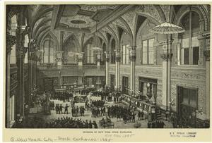 Interior of New York Stock Exchange.