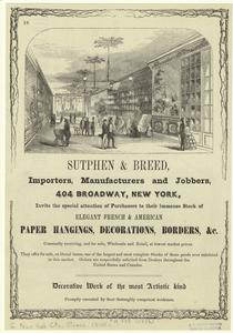 Sutphen & Breed : importers, manufacturers and jobbers, 404 Broadway, New York.