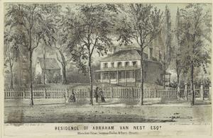 Residence of Abraham van Nest, Esqr., Bleecker Street, between Charles & Perry Streets.