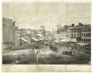 General view of Chatham St. 1858, looking down from Chatham Square.