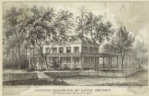Country residence of David Provoost, 57th Street, East River, New York, 1857.