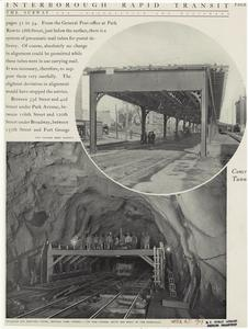 Two column bent viaduct ; Traveler for erecting forms, Central Park tunnel.