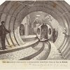 The Broadway Pneumatic Underground Railway--View Of Car In Motion.