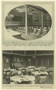The executive committee room in Tammany Hall ; The diningroom of the Democratic Club.