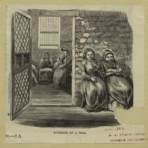 [Workhouse on Blackwell's Island]  Interior of a cell.