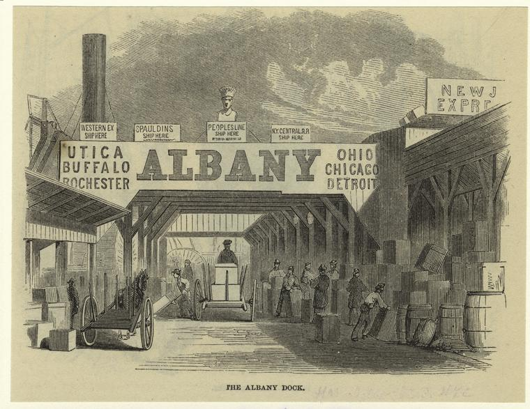 The Albany dock.