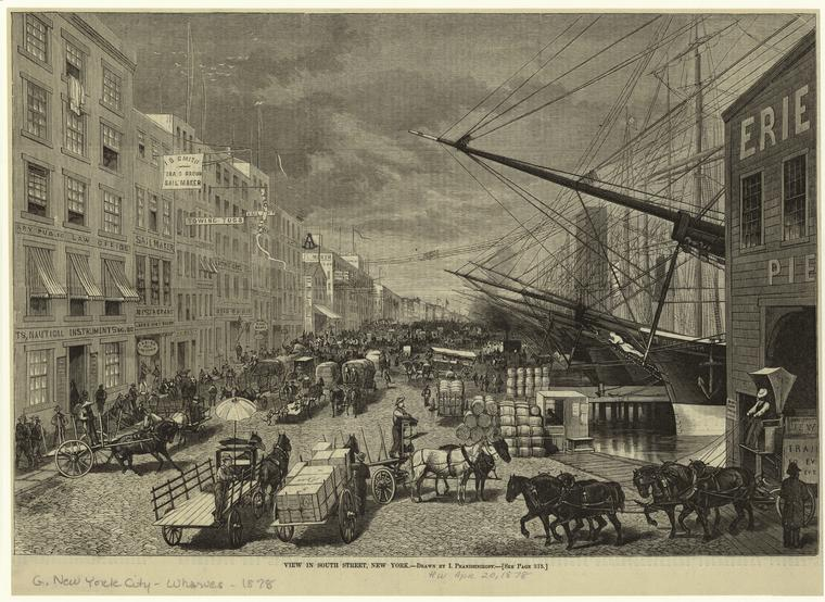 View in South Street, New York.