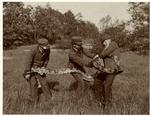 Park Employees Holding A Snake, 1906.