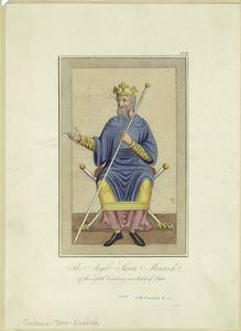 The Anglo-Saxon monarch of the eighth century in a habit of state.