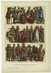 Edad Media - Trajes Alemanes Del Siglo Xiii.