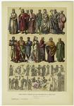 Edad Media - Trajes De Los Ingleses En El Siglo Xiii.