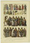 Edad Media - Trajes De Los Españoles De Los Siglos Xiii Y Xiv.