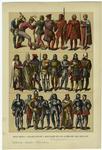 Edad Media - Trajes, Civiles Y Militares De Los Alemanes Del Siglo Xv.