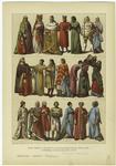 Edad Media - Trajes De Los Italianos En El Siglo Xiii Y Primera Mitad Del Siglo Xiv.